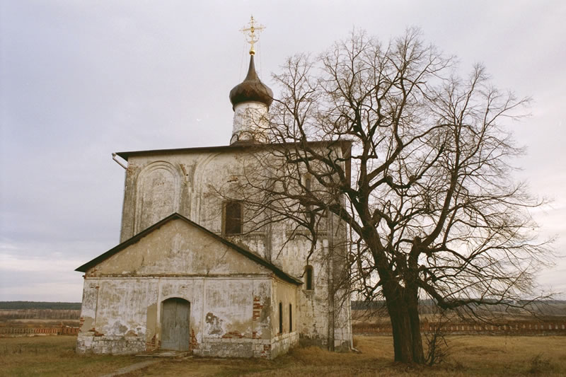 What is thought to be the oldest church in Russia is shown on 				this cold December day.