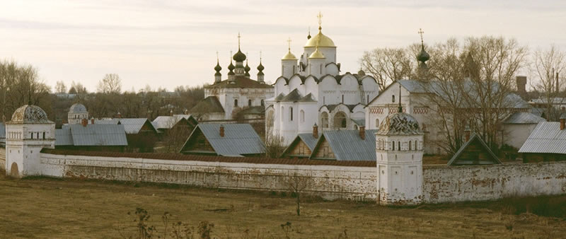 An old convent outside the city of Moscow, Russian.