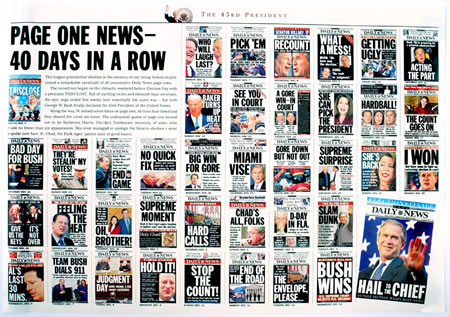 New York Daily News Election 2000 front page montage